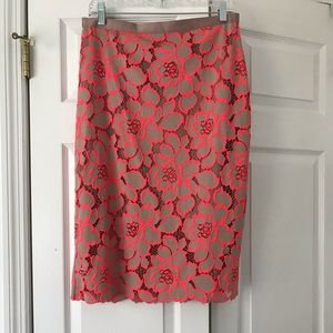 TOPSHOP lace overlay pencil skirt-Size 10